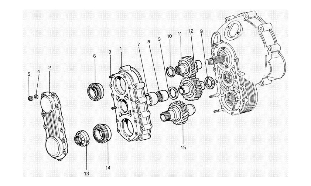 206 GT Dino - Table 20 - Gear Box Transmission
