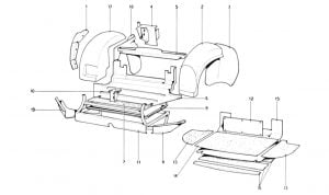 246 Dino GT - Table 104 - Body Shell - Inner Elements