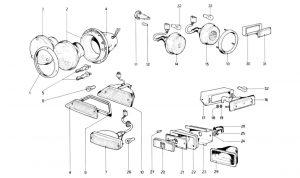 246 Dino GT - Table 117 - Lights