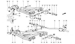 246 Dino GT - Table 32 - Front Suspension - Wishbones