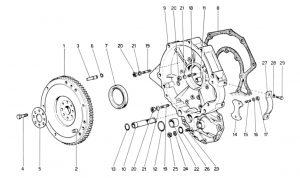 246 Dino GT - Table 4 - Flywheel and Intermediate Gearbox Housing