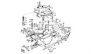 246 Dino GT - Table 9 - Weber Carburettor (40 DCNF-13)