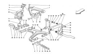 F355 - 5.2 - Table 49 - Front Suspension - Wishbones